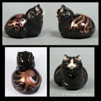 Art pebble cat Octapusss by Reptangle