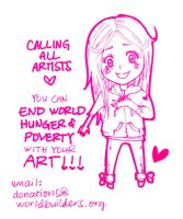 End World Hunger and Poverty with your Art! by heycheri