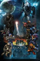Halo Reach Theatrical Poster by Kakkay