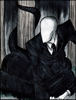 Snakey slenderman -Remake- by Cageyshick05