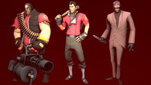 My Loadouts for Heavy, Scout and Spy (RED) by NMaster90