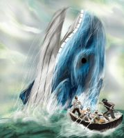 Moby Dick, with a Wailord by darren1993