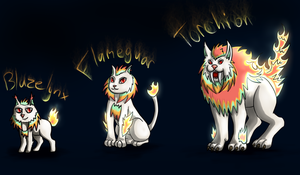 Fire Cat Fakemon by Inudoragon23