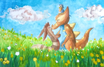 AT: On the Meadow by PitchBlackEspresso