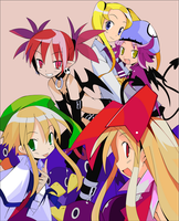 Disgaea Girls by RogueShadowX