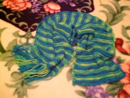 Blueberry Banana Scarf for Amy by MiasmaMoon
