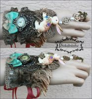 Bunny boho watch cuff by Pinkabsinthe