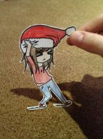 Christmas paper child by emoPANDAattack