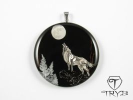 Steampunk inspired wolf of watch parts by TRYBcomPL