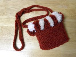 Crocheted Red Pouch by ChallengeSakana