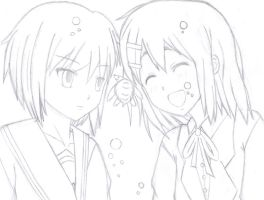 Nagato and Yui plus Ton-chan by gen195