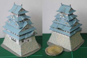 Himeji Castle, Japan, Papercraft by SarienSpiderDroid