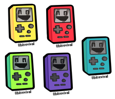 8BITREVIVAL PROMO STICKERS by tropicalfriend