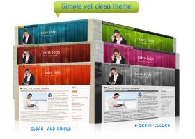 Simple yet clean wp theme by TheGraphicGeek