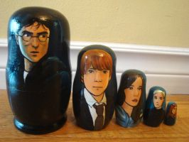 Set of Harry Potter Nesting Dolls by bachel60