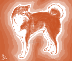 Paint the shiba red by Lem0nGin