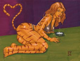 Tigra Milk Drink I by daikkenaurora
