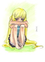 Weepy Blond Girl by Anrui219