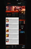 Burn3d Gaming Web UI by BizarroDesigns