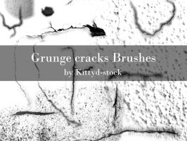 Grunge Cracks by Kittyd-Stock