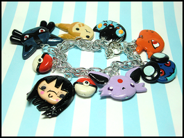 Custom Pokemon Trainer Bracelet by GrandmaThunderpants