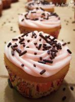 Pink Peppermint Cupcakes by dashedandshattered