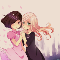 princess and witch by rorachu