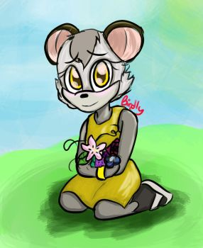 Practice #2 - Possum OC by ALittleBirdly