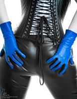Blue gloves... by RobertSleeper