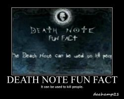 Death Note Fun Fact Poster by dachamp21X