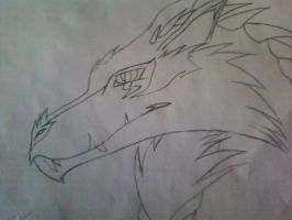 Victor as A Wolf/Dragon by GunzWolf