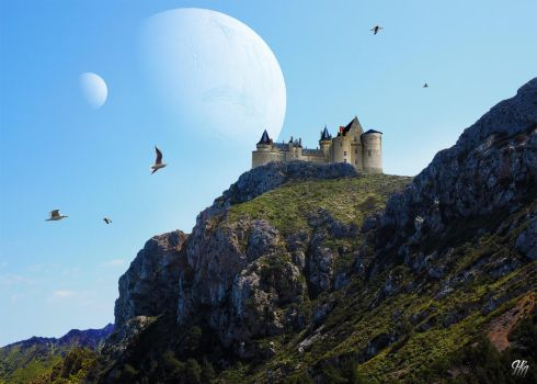 Castle on a Hill by jhmart1