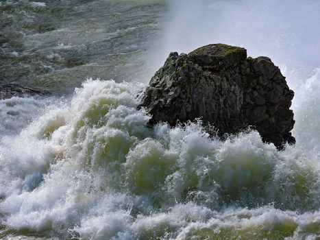 Water Bursting over rock by Drury-Lane