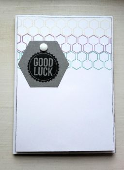 good luck card - hexagons by inconsistentsea