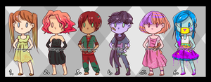 Adoptables Batch (FOUR LEFT) by Zigzangoon