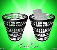 Chrome Trash Can icon by MDGraphs
