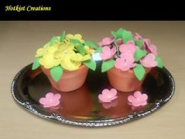 Flower Pot Cupcake by hotkist