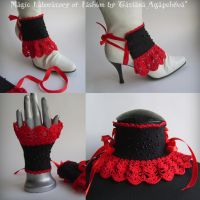 GOTH PRINCESS CUFFS,SPATS,NECK by TianaChe
