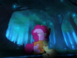 Pinkie Pie And Applejack Crying While Hugging by rainbowdash5846