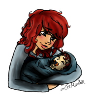 Its a Boy! - Loki and Baby Kai by xBeyondTheGalaxies