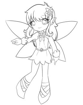Magic Fairy - Line Art by MichisGraphic