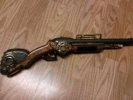 Steampunk Shotgun by LukeLombard