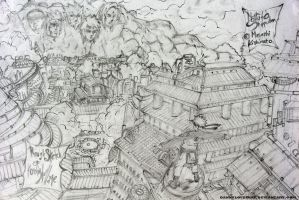 KONOHA VILLAGE by DannyLovesArt