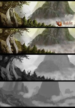 Process - Old Mountains by Mariana-Vieira