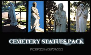Cemetery Statues Stock Pack by twitchhugstrees