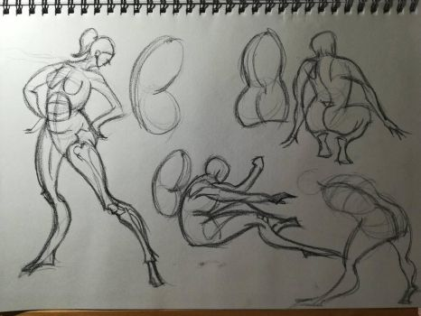 Gesture and the bean study sheet(1 of 2) by Andrix9743