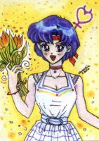 Ami n Tulips - ACEO no05 by unconventionalsenshi