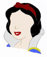 Snow White minus eyes. by cuppybunny