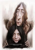 John and Yoko by lorenzowalkes