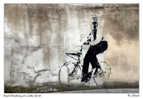 David Hockney on a bike rld 01 dasm by richardldixon